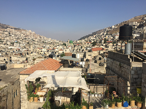 The old city of Nablus.