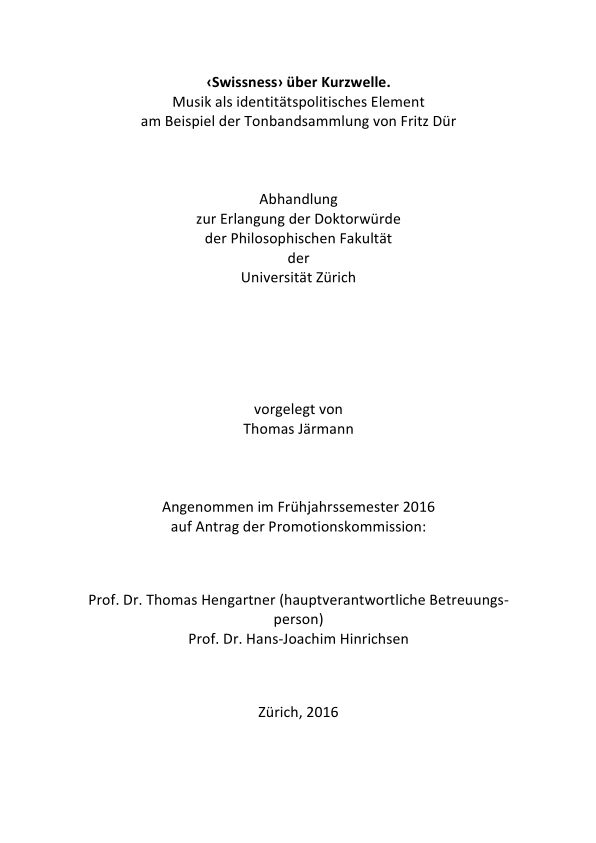 Cover Dissertation Järmann
